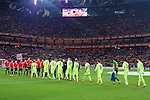 Football match during La Liga with the teams ath. club and fc barcelona in san mames stadium, bilbao<br /> <br /> PHOTOCALL3000