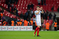 England's John Stones applauds the fans at the final whistle <br /> <br /> Photographer Craig Mercer/CameraSport<br /> <br /> FIFA World Cup Qualifying - European Region - Group F - England v Solvenia - Thursday 5th October 2017 - Wembley Stadium - London<br /> <br /> World Copyright &copy; 2017 CameraSport. All rights reserved. 43 Linden Ave. Countesthorpe. Leicester. England. LE8 5PG - Tel: +44 (0) 116 277 4147 - admin@camerasport.com - www.camerasport.com