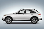 Driver side profile view of a 2008 Infiniti FX35 SUV