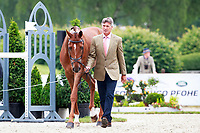 NZL-Andrew Nicholson with Teseo during the Final Horse Inspection for the CCI4* Presented by DHL, at the 2017 Luhmühlen International Horse Trial. Sunday 18 June. Copyright Photo: Libby Law Photography