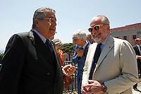 Repubblica delle idee Napoli<br /> nella foto   Aurelio De Laurentiis   Carlo De Benedetti  <br /> foto Ciro De Luca