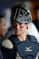 New York Yankees catcher Luis Torrens (26) during an Instructional League game against the Toronto Blue Jays on September 24, 2014 at George M. Steinbrenner Field in Tampa, Florida.  (Mike Janes/Four Seam Images)