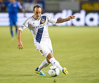 CARSON, CA - August 31, 2013: LA Galaxy vs San Jose Earthquakes match at the StubHub Center in Carson, California. Final score, LA Galaxy 3, San Jose Earthquakes  0.
