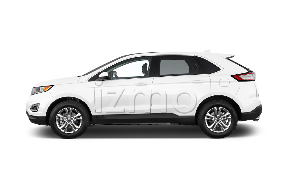 Car Driver side profile view of a 2018 Ford Edge SEL 5 Door Suv Side View
