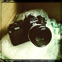 Nikon FM-2 with 55mm Micro Nikkor lens