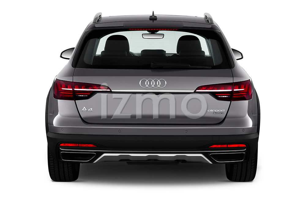 Straight rear view of a 2020 Audi A4-Allord Base 5 Door Wagon stock images