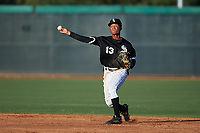AZL White Sox shortstop Samil Polanco (13) throws to first base during an Arizona League game against the AZL Royals at Camelback Ranch on June 19, 2019 in Glendale, Arizona. AZL White Sox defeated AZL Royals 4-2. (Zachary Lucy/Four Seam Images)