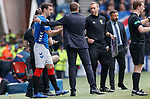 28.04.2019 Rangers v Aberdeen: Lee Wallace comes on