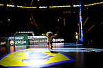 GER - Mannheim, Germany, September 23: Players warm-up before the DKB Handball Bundesliga match between Rhein-Neckar Loewen (yellow) and TVB 1898 Stuttgart (white) on September 23, 2015 at SAP Arena in Mannheim, Germany. (Photo by Dirk Markgraf / www.265-images.com) *** Local caption ***