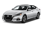 2019 Nissan Altima SV 4 Door Sedan Angular Front stock photos of front three quarter view