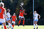 CARY, NC - NOVEMBER 19: Princeton's Mimi Asom. The University of North Carolina Tar Heels hosted the Princeton University Tigers on November 19, 2017 at Koka Booth Stadium in Cary, NC in an NCAA Division I Women's Soccer Tournament Third Round game. Princeton won 2-1 in sudden death overtime.