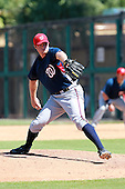 Washington Nationals pitcher Aaron Barrett during a game vs. the Detroit Tigers in an Instructional League game at Joker Marchant Stadium in Lakeland, Florida;  October 1, 2010.   Photo By Mike Janes/Four Seam Images
