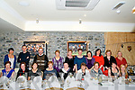 Arus Mhuire Staff Xmas party: The staff of Arus Mhuire Nursing Home, Listowel enjoying their Christmas Party at Behans Restaurant at the Horseshoe Bar, Listowel l on Friday night last.