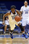 05 November 2015: Duke's Kyra Lambert. The Duke University Blue Devils hosted the Pfeiffer University Falcons at Cameron Indoor Stadium in Durham, North Carolina in a 2015-16 NCAA Women's Basketball Exhibition game. Duke won the game 113-36.