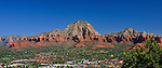 Sedona Panorama<br /> Capitol Rock presides over the scene from Sky Ranch Lodge<br /> Sedona, Arizona