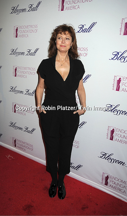 actress Susan Sarandon attends the Endometriosis Foundation of America 4th Annual  Blossom Ball on March 15, 2012 at The New York Public Library in New York City.