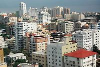 Vista áerea de la ciudad de Santo Domingo en la zona de los cacicazgos. Santo Domingo, República Dominicana. 27 Octubre de 2010. Foto: © Cesar De La Cruz.