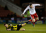 Paul Coutts of Sheffield Utd tackled by Tom Naylor of Burton Albion - English League One - Sheffield Utd vs Burton Albion - Bramall Lane Stadium - Sheffield - England - 1st March 2016 - Pic Simon Bellis/Sportimage