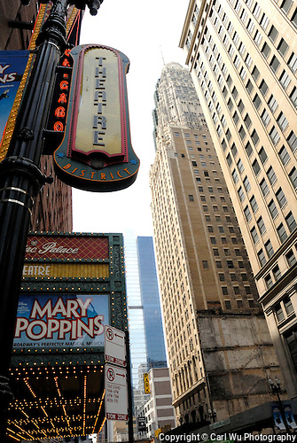 Theatre Distric Sign In Chicago