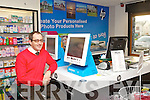 Eddie Morrison Pictured in the photographic section of Ardfert Pharmacy,