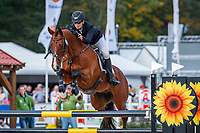 AUS-Catherine Burrell rides Duke during the Showjumping for the CCIO4*-L FEI Nations Cup Eventing. 2019 Military Boekelo-Enschede International Horse Trials. Sunday 13 October. Copyright Photo: Libby Law Photography