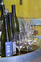 Wine tasting. Cuvee La D18. Domaine Olivier Pithon, Calces, Roussillon, France