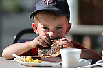 Everett Hogan, 3, enjoys his pancakes at the Summer Reading Program Pancake Breakfast Kick-Off at the Carson City Library, in Carson City, Nev., on Saturday, June 8, 2013. <br /> Photo by Cathleen Allison