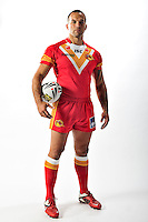 PICTURE BY VAUGHN RIDLEY/SWPIX.COM - Rugby League - ISC 2012 Super League Team Kit Shoot - 17/08/11- Catalans Dragons Louis Anderson.