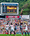 United States play France on Day 2 of the Cathay Pacific / HSBC Hong Kong Sevens 2013 on 23 March 2013 at Hong Kong Stadium, Hong Kong. Photo by Manuel Queimadelos / The Power of Sport Images