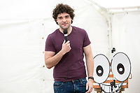 14th July 2019: Comedian Edd Hedges performs his show 'Shut it Down Carol ' on day 2 of the 2019 Comedy Crate Festival, Northampton.