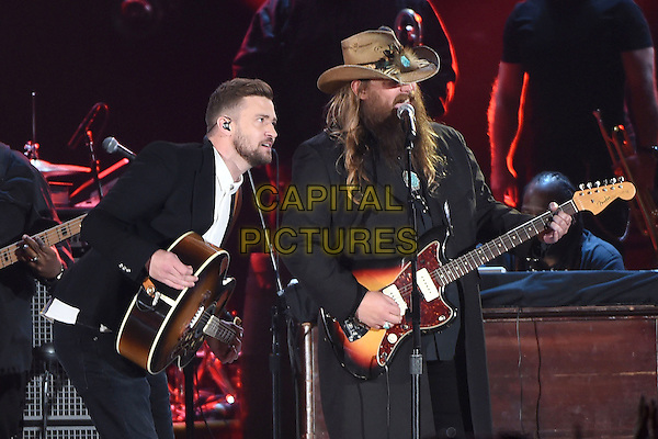 4 November 2015 - Nashville, Tennessee - Justin Timberlake, Chris Stapleton. 49th CMA Awards, Country Music's Biggest Night, held at Bridgestone Arena. <br /> CAP/ADM/LF<br /> &copy;LF/ADM/Capital Pictures