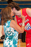 Lady Mayor of Madrid Ana Botella with the player of the Spanish Basketball Team Pau Gasol..(Alterphotos/Ricky)