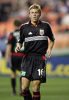 9 April 2005.  DC United's Brian Carroll (16) waits for the corner at RFK Stadium in Washington, DC.