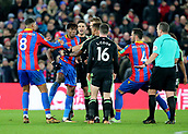 9th December 2017, Selhurst Park, London, England; EPL Premier League football, Crystal Palace versus Bournemouth; Wilfried Zaha of Crystal Palace reacts after Lewis Cook of Bournemouth brings him down outside the Bournemouth area