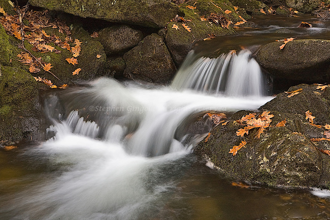 A pretty cascade in the Autumn in Whately, Massachusetts.