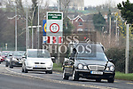 The funerals of Josie Duff and Kathy McDonald who were killed crossing the road at Hunterstown, County Louth, leave ardee for Ballapousta cemetary. Photo:Colin Bell/pressphotos.ie