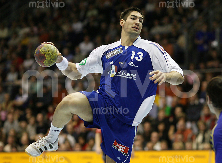 Handball-WM 2007  Vorrunde  Match 7  Nikola KARABATIC (Frankreich) am Ball