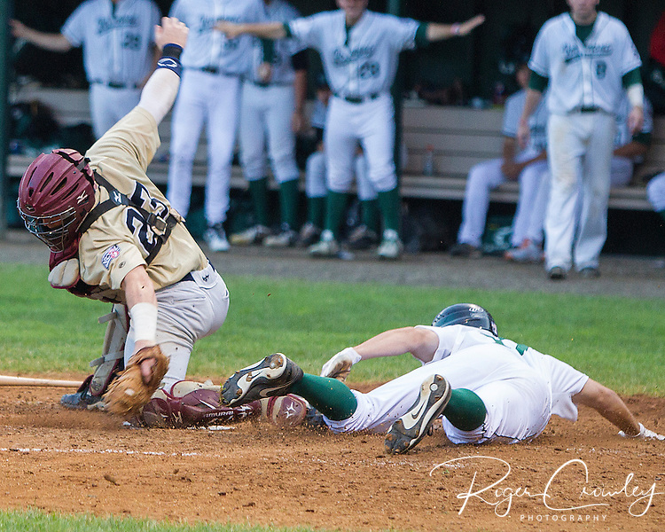 The Vermont Mountaineers lost to the Saratoga Brigade 5-3  in NECBL action at Recreation Field in Montpelier, VT.