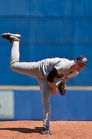 Alex Wimmers of the Ft. Myers Miracle at Digital Domain Park in St. Lucie, Florida September 5, 2010. Wimmers was the Minnesota Twins 1st round pick (21st overall) of the 2010 MLB Draft. Photo By Scott Jontes/Four Seam Images