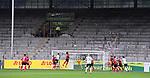 FussballFussball: agnph001:  1. Bundesliga Saison 2019/2020 27. Spieltag 23.05.2020<br /> SC Freiburg - SV Werder Bremen<br /> Leere Nordtribuene des Schwarzwald-Stadion mit Spielszene<br /> FOTO: Markus Ulmer/Pressefoto Ulmer/ /Pool/gumzmedia/nordphoto<br /> <br /> Nur für journalistische Zwecke! Only for editorial use! <br /> No commercial usage!