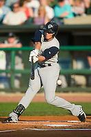 Charlotte center fielder Ryan Sweeney (31) swings and misses versus Louisville at Louisville Slugger Field in Louisville, KY, Tuesday, June 5, 2007.
