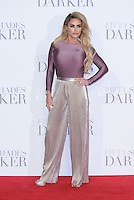 www.acepixs.com<br /> <br /> February 9 2017, London<br /> <br /> Katie Price arriving at the UK Premiere of 'Fifty Shades Darker' at the Odeon Leicester Square on February 9, 2017 in London, United Kingdom. <br /> <br /> By Line: Famous/ACE Pictures<br /> <br /> <br /> ACE Pictures Inc<br /> Tel: 6467670430<br /> Email: info@acepixs.com<br /> www.acepixs.com