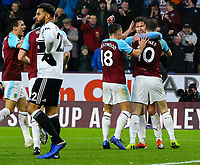 Burnley players celebrate after going 2-1 up<br /> <br /> Photographer Alex Dodd/CameraSport<br /> <br /> The Premier League - Burnley v Fulham - Saturday 12th January 2019 - Turf Moor - Burnley<br /> <br /> World Copyright © 2019 CameraSport. All rights reserved. 43 Linden Ave. Countesthorpe. Leicester. England. LE8 5PG - Tel: +44 (0) 116 277 4147 - admin@camerasport.com - www.camerasport.com