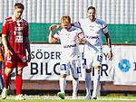 S&ouml;dert&auml;lje 2015-08-01 Fotboll Superettan Assyriska FF - &Ouml;stersunds FK :  <br /> Assyriskas Christopher Brandeborn gratuleras efter sitt 4-1 m&aring;l av Andreas Haddad under matchen mellan Assyriska FF och &Ouml;stersunds FK <br /> (Foto: Kenta J&ouml;nsson) Nyckelord:  Assyriska AFF S&ouml;dert&auml;lje Fotbollsarena Superettan &Ouml;stersund &Ouml;FK jubel gl&auml;dje lycka glad happy
