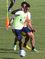 BOGOTA - COLOMBIA--24-05 -2013 :  Fredy Guarín durante el  entrenamiento de la selección Colombia de fútbol de mayores en el estadio El Campincito antes de su encuentro con la selección de Argentina en Buenos Aires . (Foto: VizzorImage / . Fredy Guarín . Training Colombia soccer team over at El Campincito before his encounter with the selection of Argentina in Buenos Aires....VizzorImage / Felipe Caicedo / Staff
