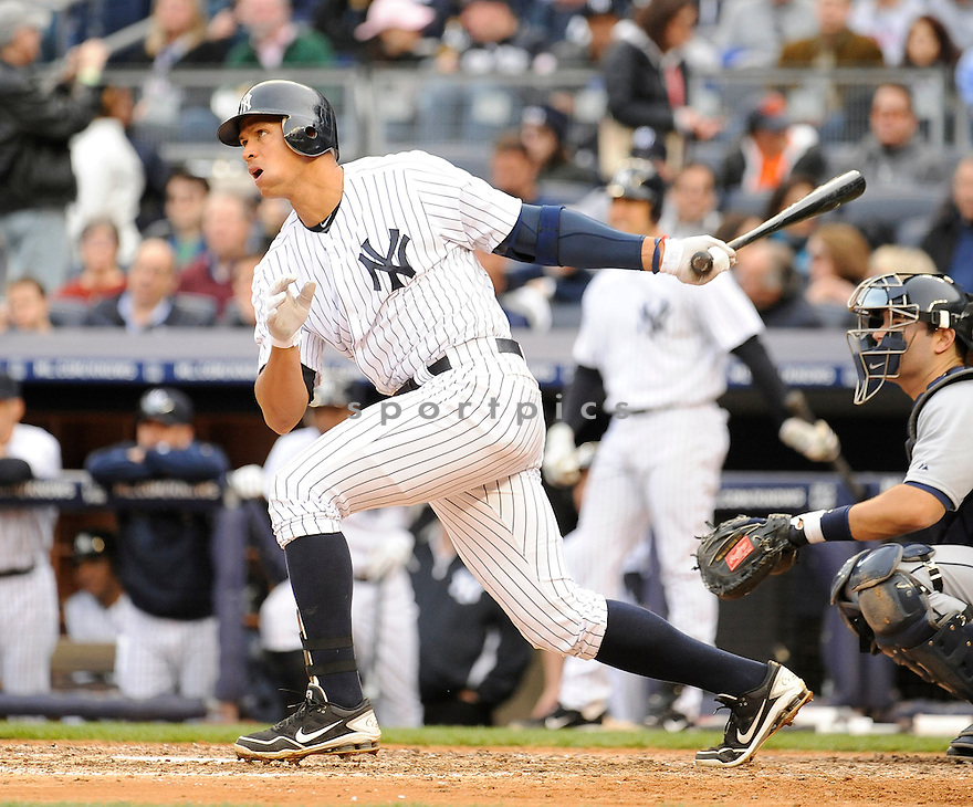 ALEX RODRIGUEZ (13), of the New York Yankees, in action during the Yankees game against the Detroit Tigers on April 28, 2012 at Yankee Stadium in New York, NY. The Tigers beat the Yankees 7-5.