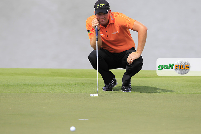 Peter Hanson (SWE) lines up his putt on the 4th green during Sunday's Final Round of the WGC Cadillac Championship at TPC Blue Monster, Doral Golf Resort & Spa, Miami Florida, 11th March 2012 (Photo Eoin Clarke/www.golffile.ie)