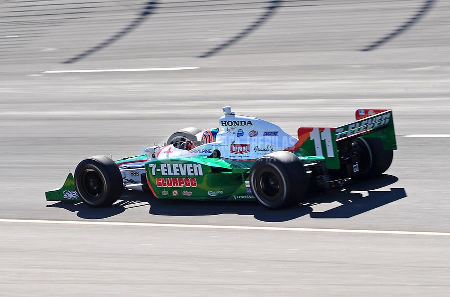 Jun. 21, 2008; Newton, IA, USA; IRL driver Tony Kanaan during practice for the Iowa Corn Indy 250 at the Iowa Speedway. Mandatory Credit: Mark J. Rebilas-