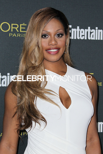 WEST HOLLYWOOD, CA, USA - AUGUST 23: Laverne Cox arrives at the 2014 Entertainment Weekly Pre-Emmy Party held at the Fig & Olive on August 23, 2014 in West Hollywood, California, United States. (Photo by Xavier Collin/Celebrity Monitor)