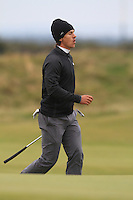 Thorbjorn Olesen (DEN) on the 17th during the 2015 Alfred Dunhill Links Championship at the Old Course in St. Andrews in Scotland on 4/10/15.<br />